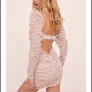 NEW For Love & Lemons All that Glitters Mini Dress